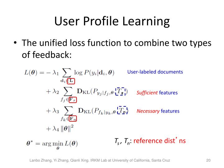 User Profile Learning