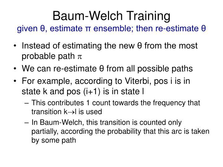 Baum-Welch Training