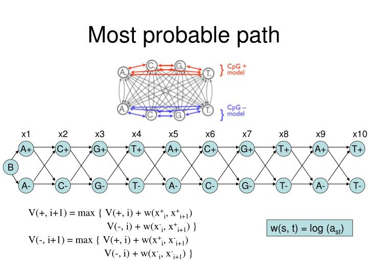 Most probable path