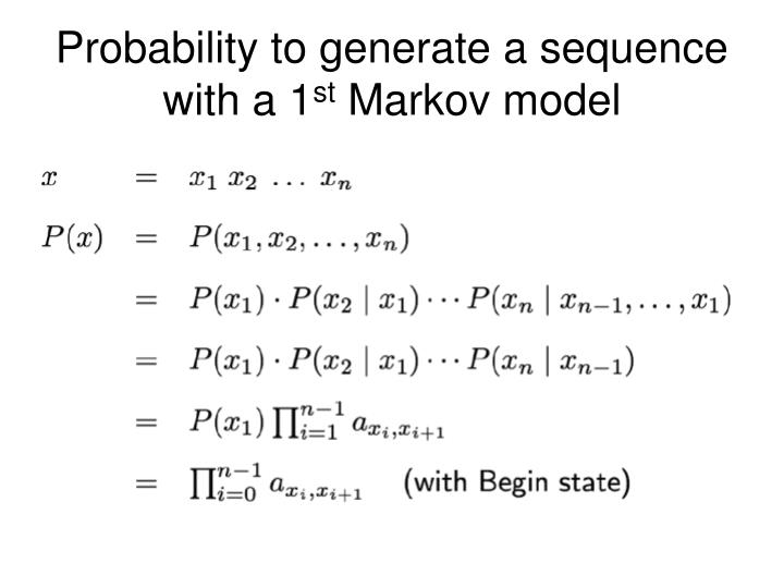 Probability to generate a sequence with a 1