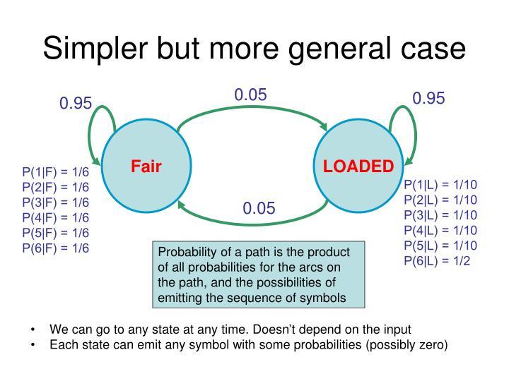 Simpler but more general case