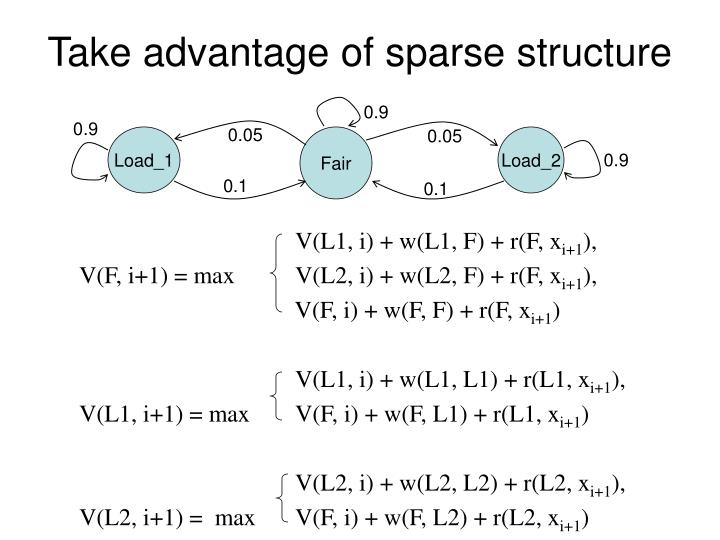 Take advantage of sparse structure