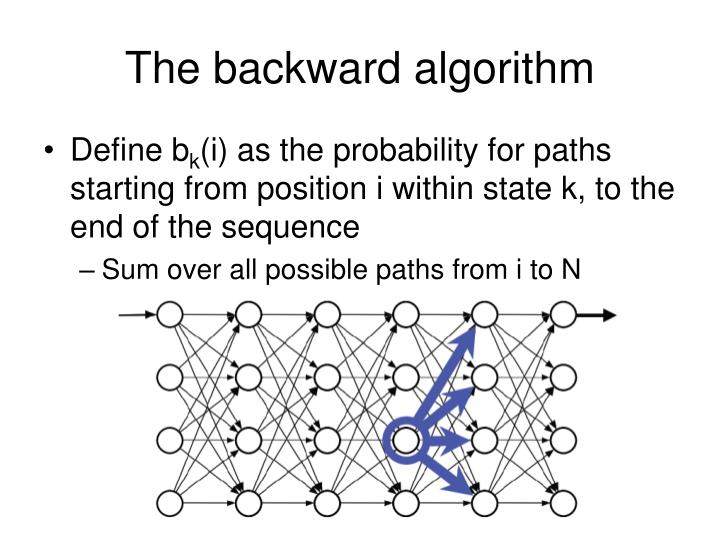 The backward algorithm