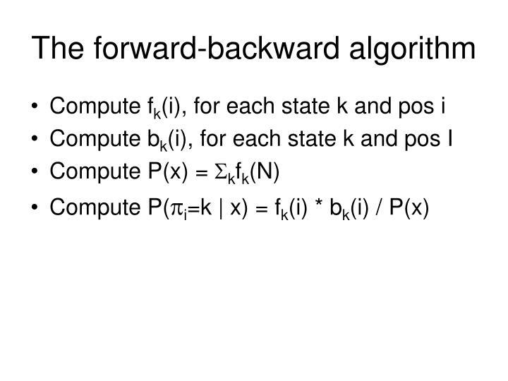 The forward-backward algorithm