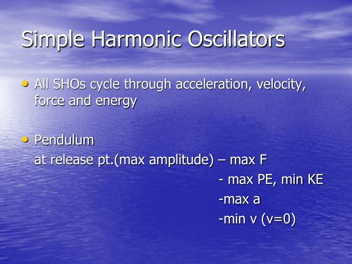 Simple Harmonic Oscillators