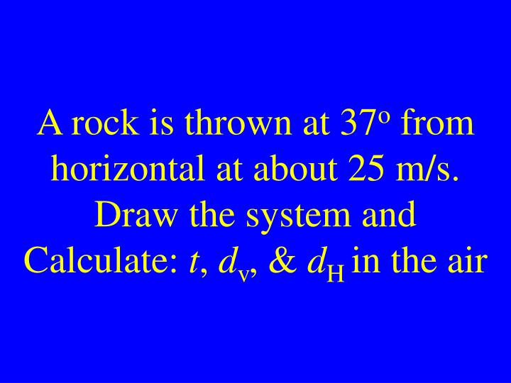 A rock is thrown at 37