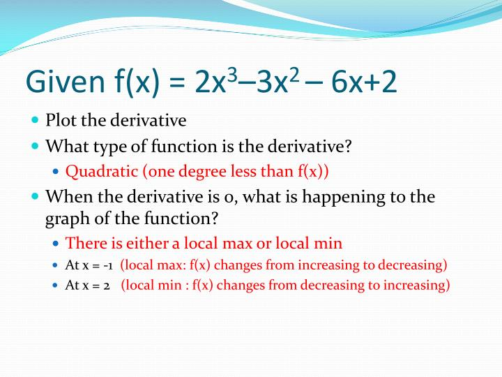 Given f(x) = 2x
