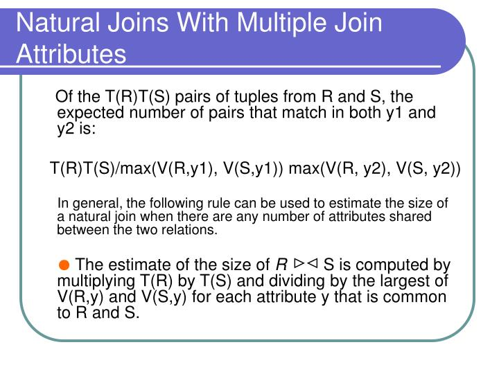 Natural Joins With Multiple Join Attributes