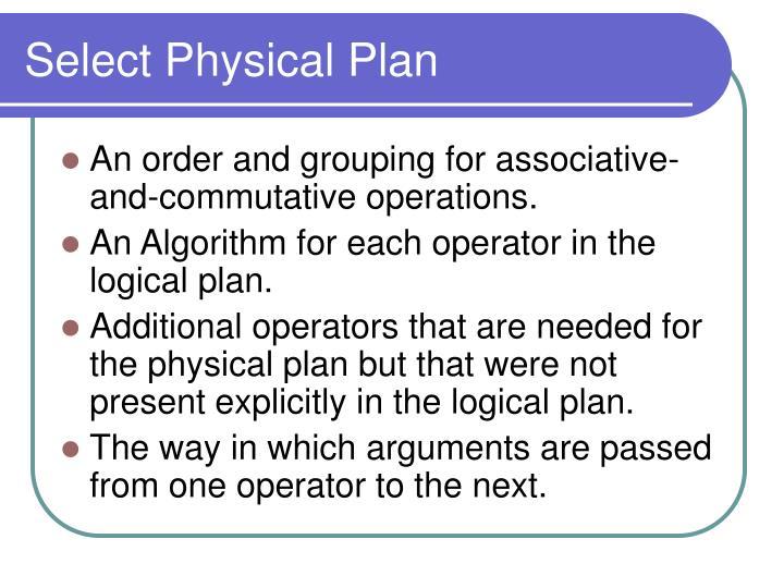 Select Physical Plan