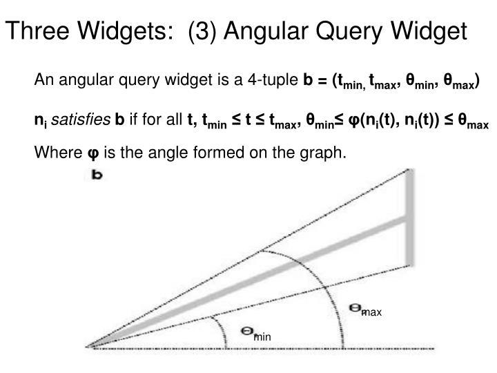 Three Widgets:  (3) Angular Query Widget