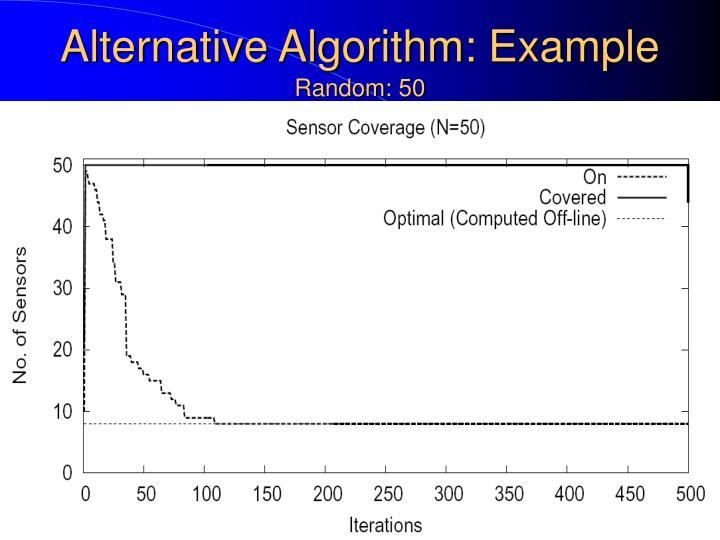 Alternative Algorithm: Example