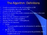 the algorithm definitions