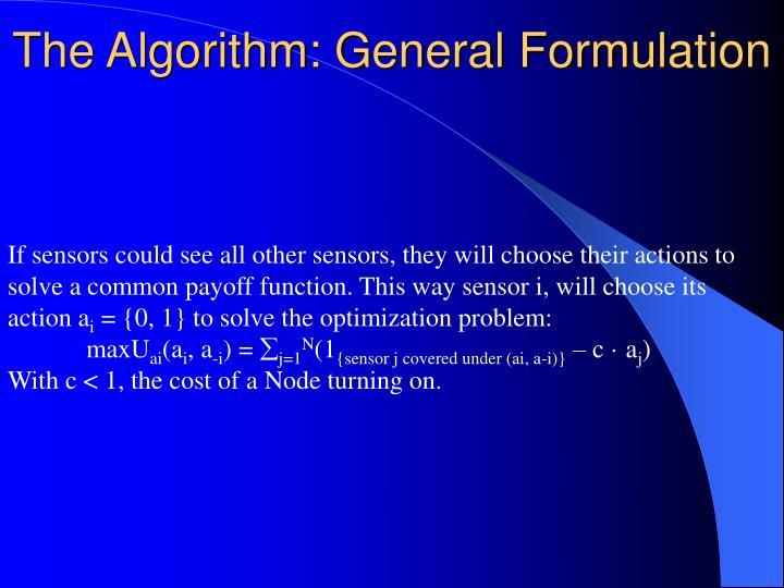 The Algorithm: General Formulation
