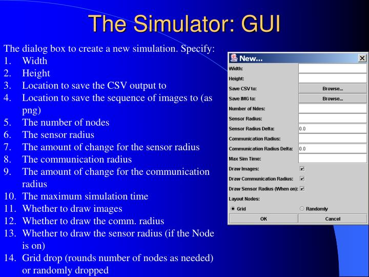 The Simulator: GUI