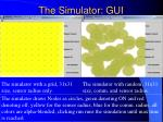 the simulator gui1