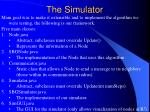 the simulator