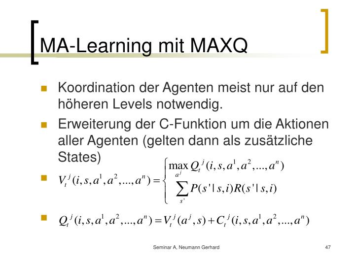 MA-Learning mit MAXQ