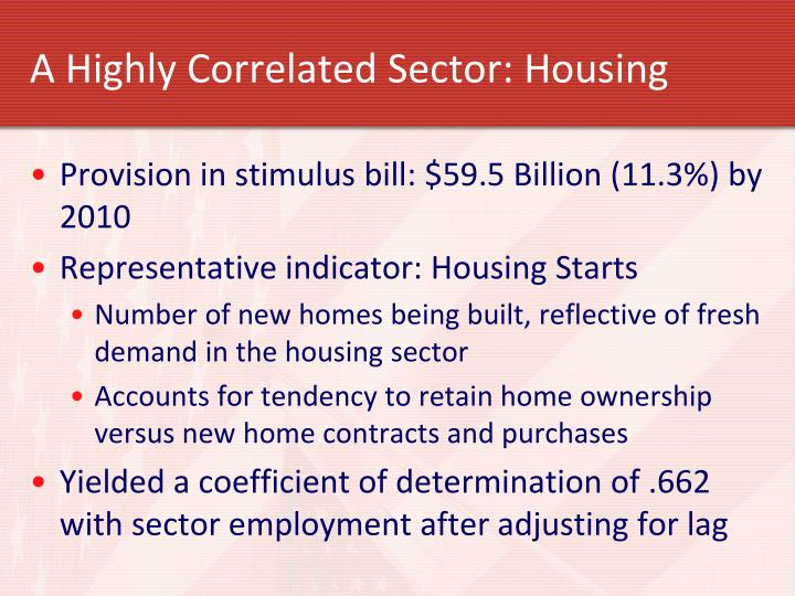 A Highly Correlated Sector: Housing