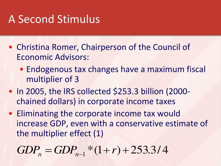 A Second Stimulus