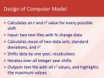 design of computer model