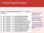 sample program output