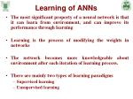 learning of anns