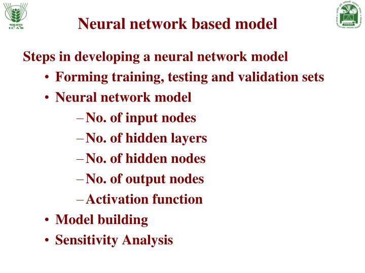 Neural network based model
