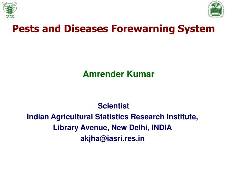 Pests and Diseases Forewarning System