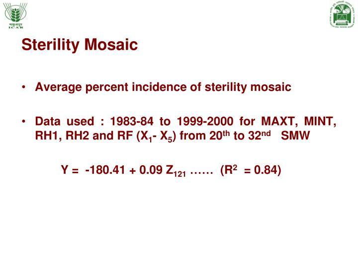Sterility Mosaic