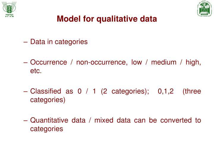 Model for qualitative data