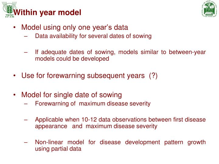 Within year model