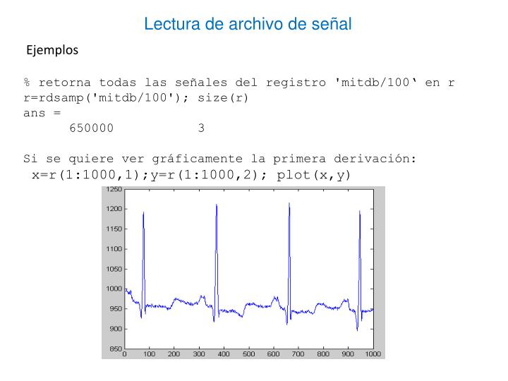 Lectura de archivo de señal