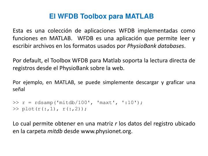 El WFDB Toolbox para MATLAB