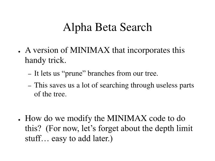 Alpha Beta Search