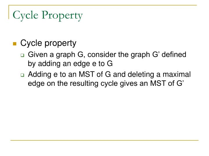 Cycle Property