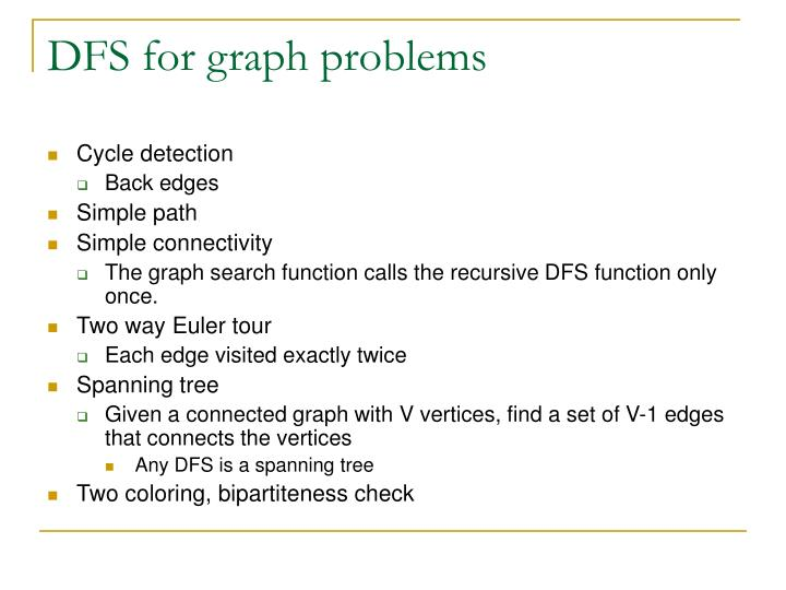 DFS for graph problems