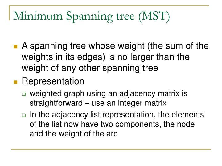 Minimum Spanning tree (MST)