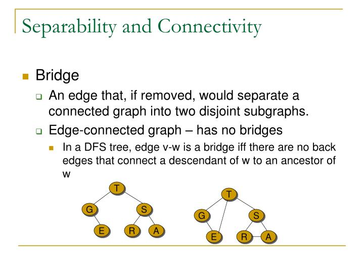 Separability and Connectivity
