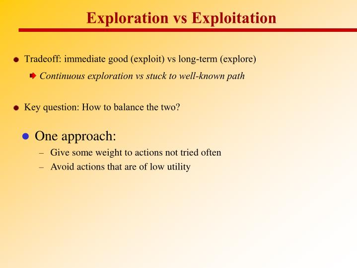 Exploration vs Exploitation