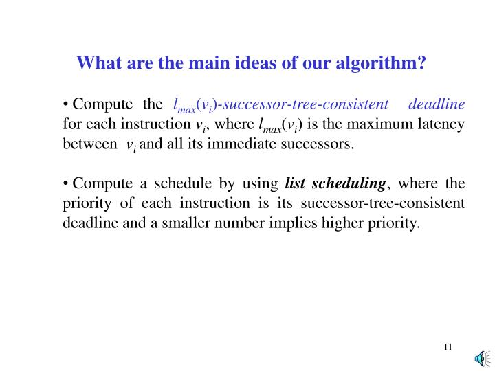 What are the main ideas of our algorithm?