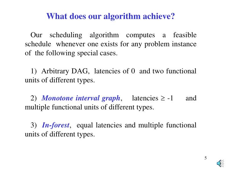 What does our algorithm achieve?