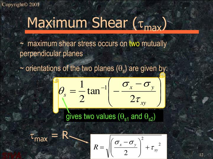 gives two values (