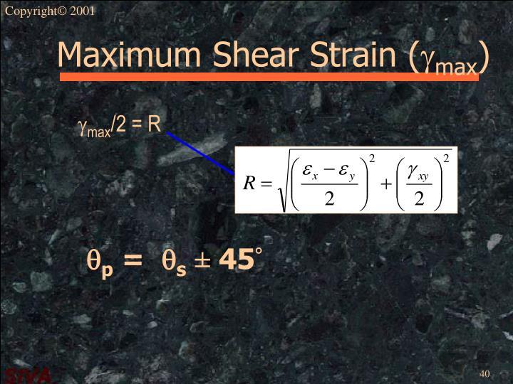 Maximum Shear Strain (