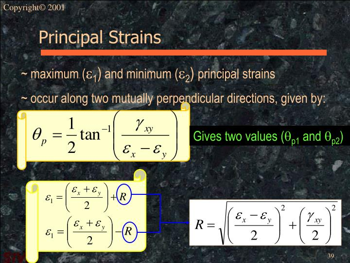 Principal Strains