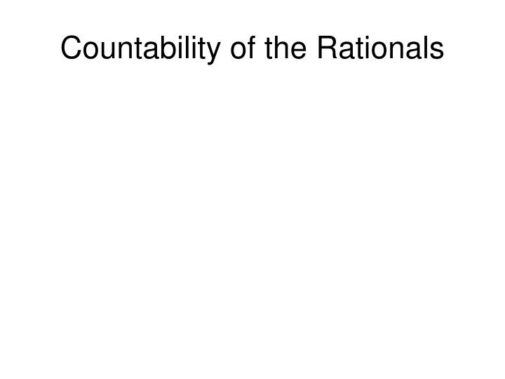 Countability of the Rationals