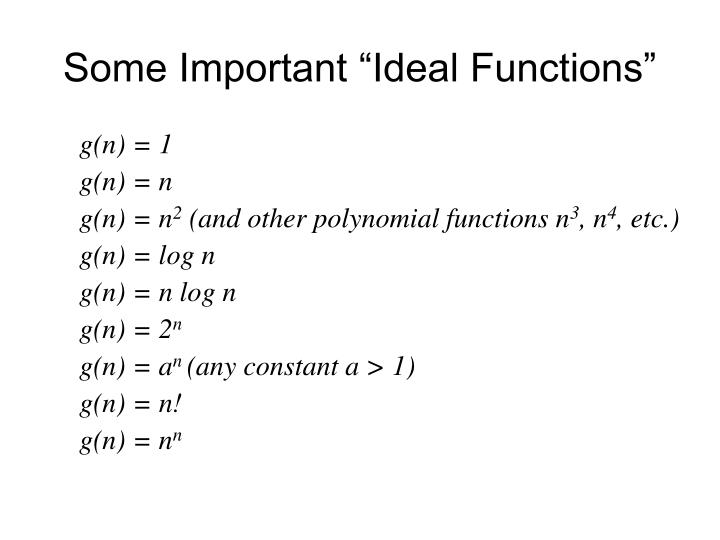 "Some Important ""Ideal Functions"""