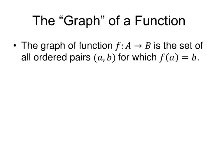 "The ""Graph"" of a Function"