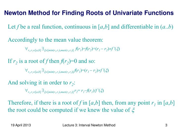 Accordingly to the mean value theorem: