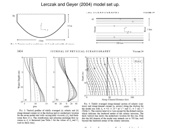 Lerczak and Geyer (2004) model set up.