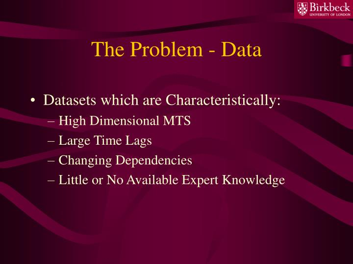 The problem data